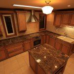 クラフトメイド輸入キッチンの施工事例:清水の家